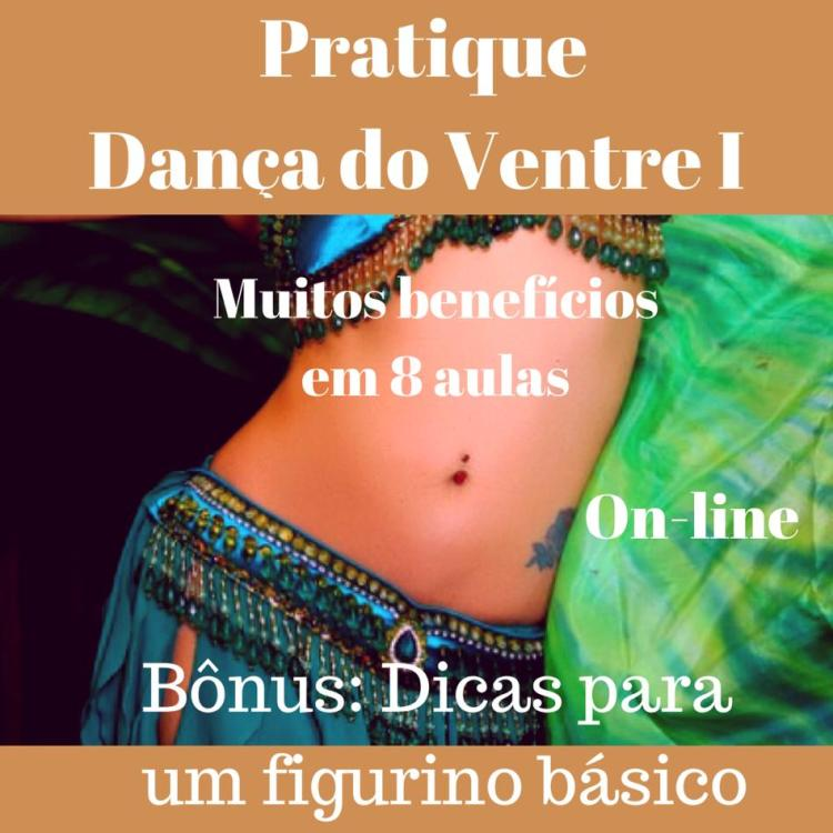 Cartaz Curso On-line Dança do Ventre I.